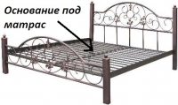 """Металлическая кровать """"Эсмеральда"""" Металл-дизайн"""