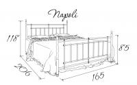Металлическая кровать Napoli (Неаполь)