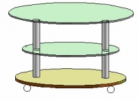 Журнальный столик Антоник СТ-607