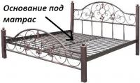 """Металлическая кровать """"Адель"""" Металл-дизайн"""