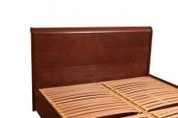 """Кровать Олимп """"Милена с интарсией"""" с буковой подъемной рамой с ламелями"""