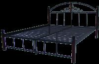 """Металлическая кровать """"Кассандра"""" на деревянных ножках Металл-дизайн"""