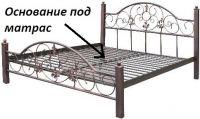 """Металлическая кровать """"Кармен"""" Металл-дизайн"""